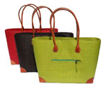raffia handbags with zips