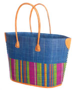 Bato small raffia beach basket